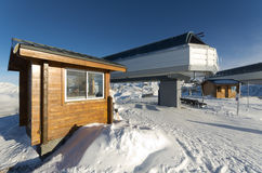 Ski resort Courchevel, lift station Stock Photos