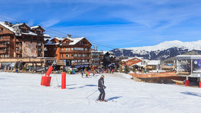Ski Resort Courchevel 1850 m in wintertime. France Royalty Free Stock Images