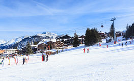Ski Resort Courchevel 1850 m in wintertime. France Stock Images