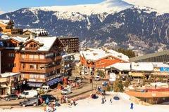 Ski Resort Courchevel 1850 m in wintertime. France Stock Photos