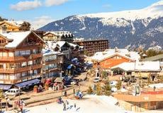 Ski Resort Courchevel 1850 m in wintertime. France Royalty Free Stock Image