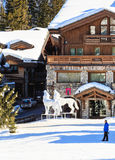 Ski Resort Courchevel 1850 m in wintertime. Le Denali hotel. France Stock Photography