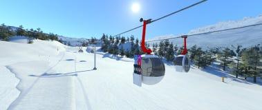 Ski resort. 3D CG rendering of the ski resort Stock Images