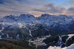 Ski Resort de Madonna di Campiglio, Alpes italiens, Italie Photos stock