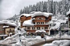 Ski Resort de Madonna di Campiglio, Italie Photographie stock libre de droits
