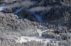 Ski Resort de Madonna di Campiglio, Italie Photo stock