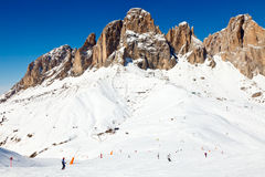 Ski Resort in den Dolomit Stockbild