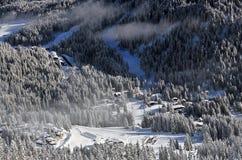 Ski Resort di Madonna di Campiglio, Italia Fotografia Stock