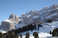 Ski resort in Dolomite Alps Royalty Free Stock Images