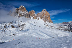 Ski resort in Dolomites, Italy Stock Photography