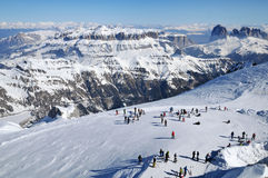 Ski resort in the Dolomites Royalty Free Stock Images