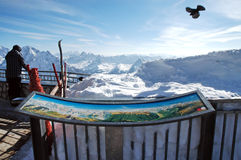Ski resort in the Dolomites Stock Images