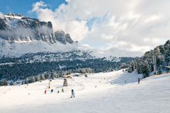 Ski Resort in Dolomites Stock Photography