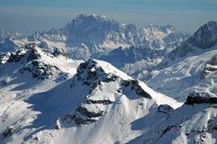 Ski resort in the Dolomities Royalty Free Stock Photos