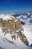Ski resort in the Dolomities Stock Image