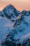 Ski resort Dombay, Karachay-Cherkessia, Russia Royalty Free Stock Photography