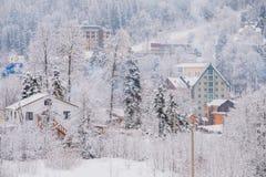 Ski resort Dombay, Karachay-Cherkessia, Russia Royalty Free Stock Image