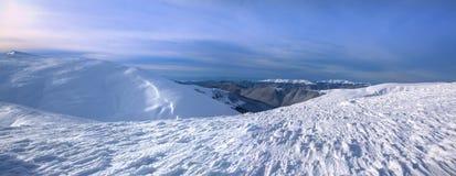 Ski resort Dragobrat in winter. Beautiful winter landscape. Panoramic view of Carpathian mountains, Ukraine Stock Photos