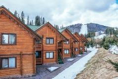 Ski resort in Eastern Europe Royalty Free Stock Photos