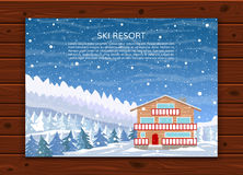 Ski resort or family house for xmas holidays. Royalty Free Stock Photo