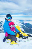 At the ski resort Stock Photography