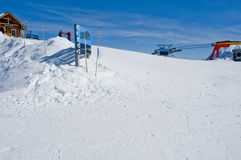 Ski resort fernie winter. Ski resort with lots of snow in foreground Stock Images