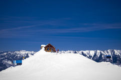 Ski resort fernie winter. Ski resort with lots of snow in foreground Stock Photos