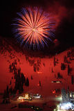Ski Resort Fireworks Royalty Free Stock Image