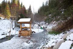 Ski resort Forest Tale near Almaty, Kazakhstan Royalty Free Stock Photo