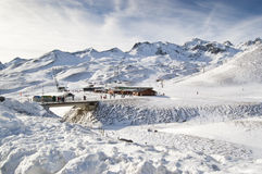 Ski resort of Formigal (Huesca, Spain) Royalty Free Stock Photography
