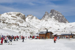 Ski resort of Formigal (Huesca, Spain) royalty free stock photo