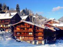 Ski resort in France Royalty Free Stock Photo
