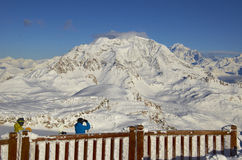 Ski resort France Espace Killy Stock Images