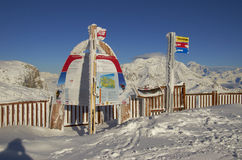 Ski resort France Espace Killy Royalty Free Stock Image