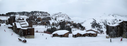 A ski resort in the French Alps,. Avoriaz, a ski resort in the French Alps royalty free stock image