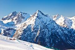 Ski resort in French Alps Royalty Free Stock Photo