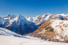 Ski resort in French Alps Royalty Free Stock Photography