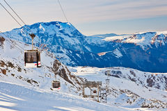Ski resort in French Alps Royalty Free Stock Photos