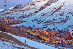 Ski resort in French Alps Stock Image