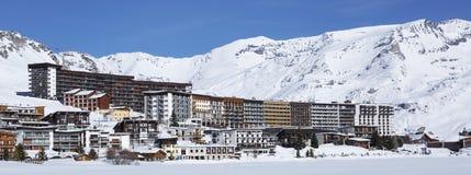 Ski resort in French Alps Stock Photo