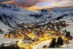 Ski resort in French Alps,Saint jean d'Arves Stock Photos