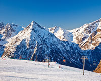 Ski resort in French Alps Royalty Free Stock Image