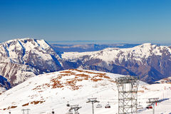 Ski resort in French Alps Stock Photography