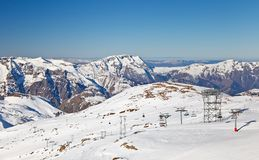 Ski resort in French Alps Stock Images