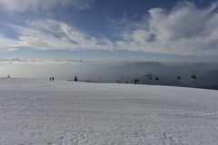 Ski Resort Gerlitzen Carinthia, södra Österrike Royaltyfri Foto