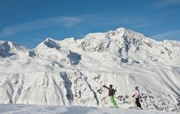 Ski resort  Hohrgurgl. Austria Royalty Free Stock Images