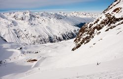Ski resort  Hohrgurgl. Austria. On the slopes of the ski resort of Hohrgurgl. Austria Stock Image