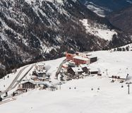 Ski resort  Hohrgurgl. Austria. On the slopes of the ski resort of Hohrgurgl. Austria Royalty Free Stock Photography