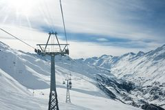 Ski resort  Hohrgurgl. Austria. View of  ski resort  Hohrgurgl. Austria Stock Photos