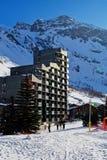 Ski resort hotel. In the winter day Stock Image